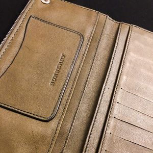 Burberry Bags - Studded billfold calfskin leather wallet